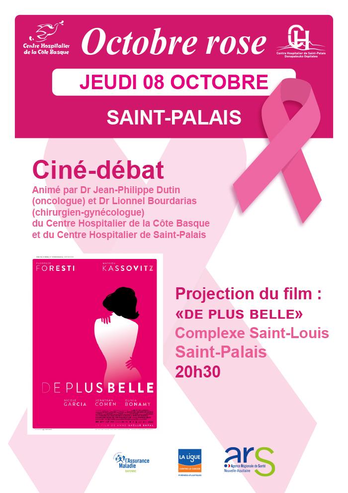 Prévention Cancer du Sein : Ciné Débat Octobre Rose Saint Palais 8 octobre