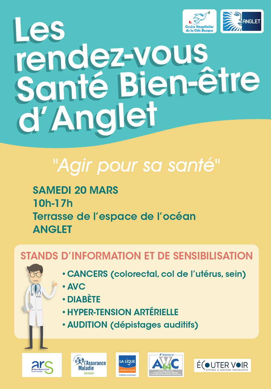 1er rendez vous Santé Bien être Anglet 20 mars