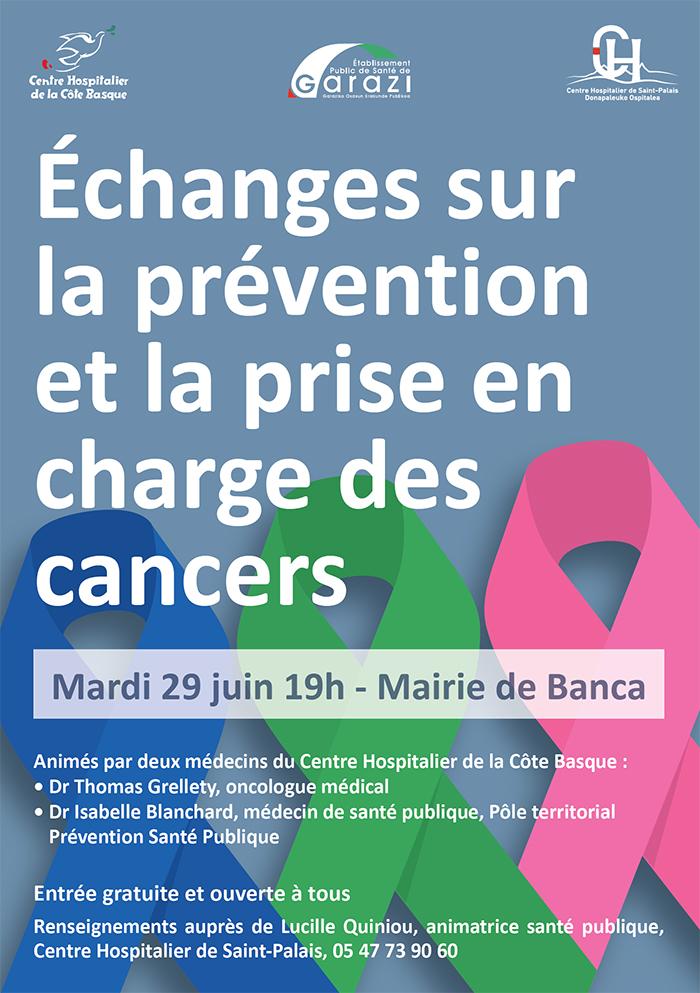 Rencontre d'information et d'échanges : prévention et prise en charge des cancers Banca 29 juin