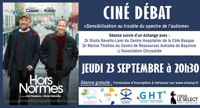 """Ciné débat """" sensibilisation au trouble du spectre de l'autisme"""" Saint-Jean-de-Luz 23 septembre"""