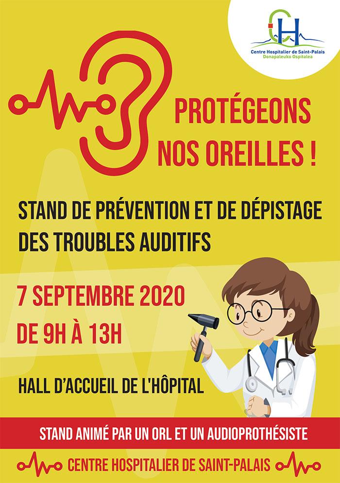 Prévention et dépistage des troubles auditifs Saint Palais 7 septembre
