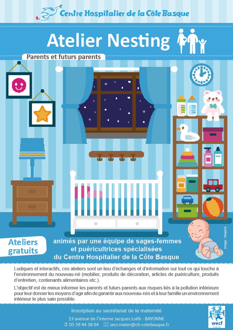 Atelier Nesting (Environnement du nouveau né) Bayonne 22 ou 29 juillet